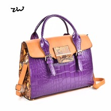 926ee9470e ZIWI Women Handbag Soft Leather Bright Splicing Color Patchwork Design  Large Capacity Ladies Shoulder Bags For Shop VK5181-in Top-Handle Bags from  Luggage ...