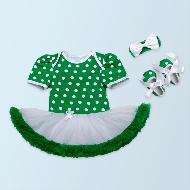 729dc293b5f2 Infant Happy Patricks Day Newborn Baby Girls Clothes Clover Printed ...