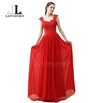 LOVONEY S303 A-Line Sweetheart Floor-Length Long Prom Dresses 2019 Chiffon Appliques Formal Evening Party Dresses Prom Dresses