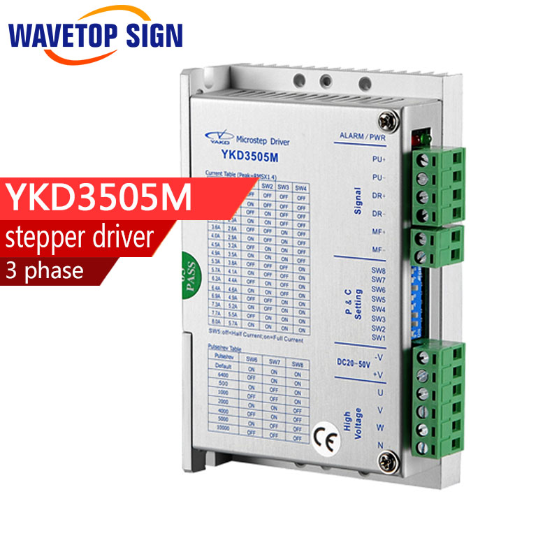 YAKO Driver YKD3505M 3 phase stepper driver YKD3505M INPUT VOLTAGE :DC20V-50V INPUT  CURRENT 5.7A MATCH MOTOR:42~86mm игра yako кухня y18614127