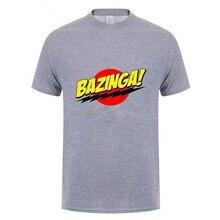 La impresión de la teoría de Big Bang camiseta BAZINGA Sheldon algodón de  manga corta Cool 640152f9264
