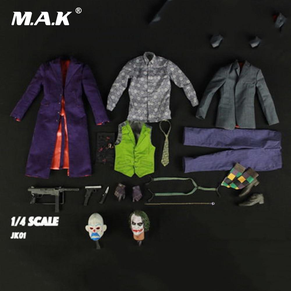 18inches Batman The Joker 1/4 JK01 Heath Ledger Head Sculpt & Clothing Suits Set