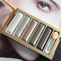 5 Colors Eyeshadow Palette Super Flash Diamond Eye Shadow Cosmetic with Brush09WG