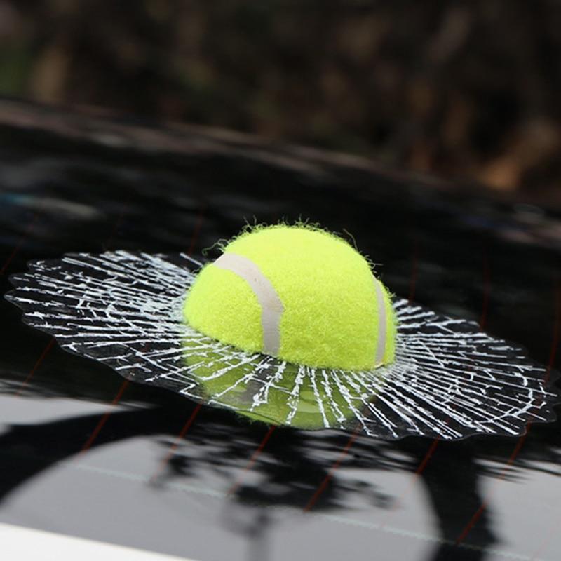 3D Car Stickers Funny Auto Car Styling Ball Hits Car Body Window Sticker Self Adhesive Baseball Tennis Decal Accessories 4pcs set window body side deflector guards sun rain visor shield cover for lr4 lr3 2009 2015 car styling auto accessories