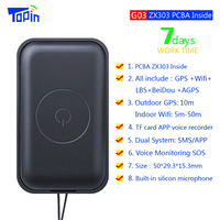 TOPIN G03 Mini GPS Tracker Wifi LBS GPS Locator Web APP Tracking Voice Recorder For Children Car Vehicle GPS Locator GSM Tracker