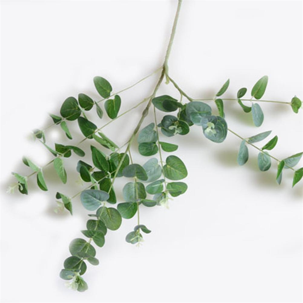 Artificial Fake Leaf Eucalyptus Plant Green Leaves Wedding Party ...