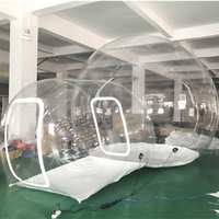 0.3mm PVC Inflatable Bubble Tent Lawn Dome Hiking Tent Transparent Clear Camping Tents Advertising Inflatable Tent 3M Bubble