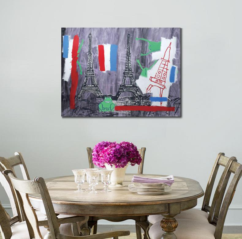 Eiffel Tower Canvas Arts Pictures For office Decor modern Modern Wall Pictures and poster printed on canvas Christmas Gifts