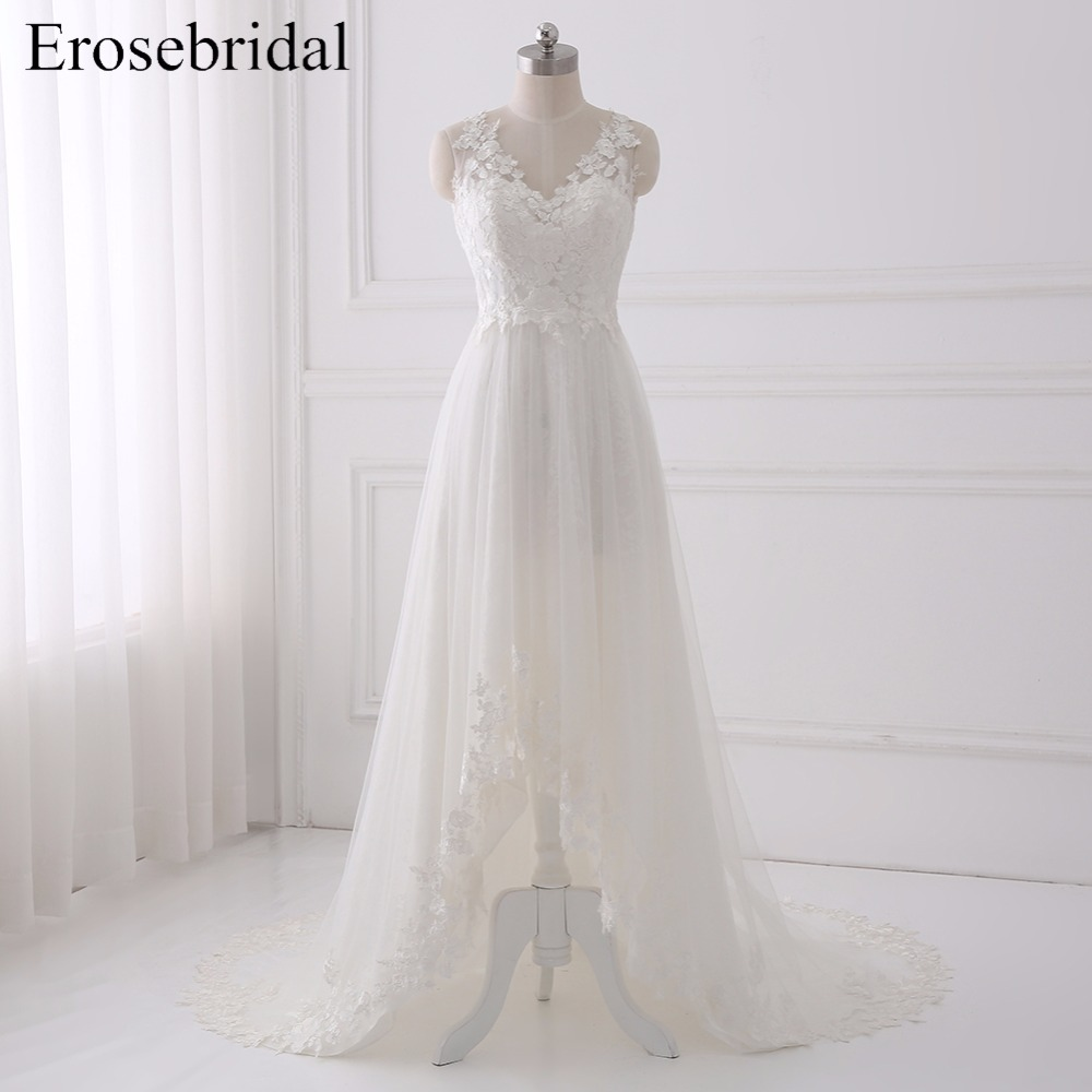 A Line Wedding Dress With Appliques Bridal Gown with Long Train Sleeveless Tulle Wedding Gown vestido