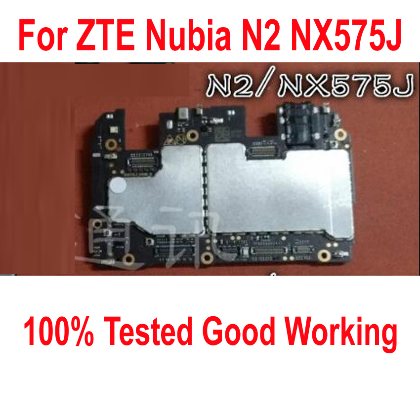Original Unlock Used Test Working Mainboard For ZTE Nubia N2 NX575J 4GB 64GB Motherboard Circuits Fee Flex Cable FPC(China)