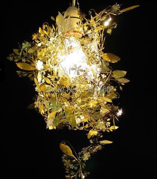 TORD BOONTJE guirlande lustre lumière à assembler soi-même noir doré chrome suspension Artecnica guirlande lumineuse