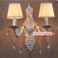 Bar vintage argento candela parete luci grande bar all'ombra riparo della parete lampada da parete dell'hotel KTV decorativo specchio luci Arandela