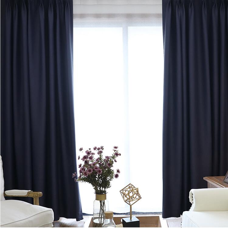 high quality velvet fabric ready made double pinch pleat window for living room can be customized
