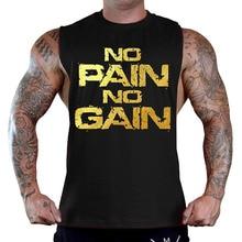 Zogaa Hot Sale Men NO PAIN GAIN Bodybuilding Stringer Gyms Tank Top Fitness Singlet Cotton Sleeveless Shirt Muscle Vest