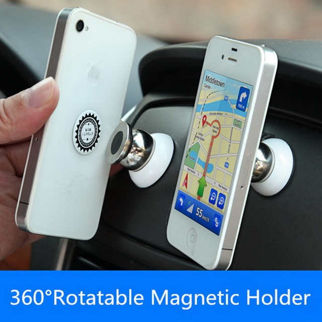 71086ac779ae56 GETIHU 360 Magnetic Phone Holder For Car Mount Magnet Universial Mobile  Cell Phone Smartphone Mini Stand Support GPS Navigation