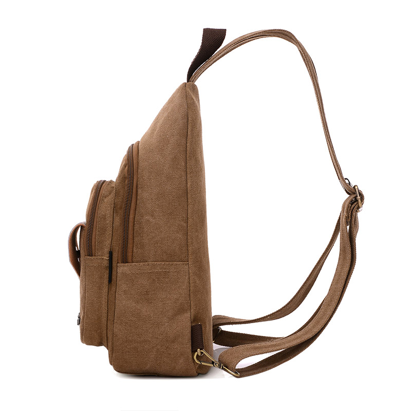 2017 Vintage Men Messenger Bag Casual Travel Rucksack Chest Bag Canvas Small Crossbody Fanny Shoulder Back Pack bolsas