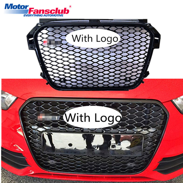 Us 199 05 45 Off Car Racing Grille For Audi A1 Grill 2011 2014 Rs1 Style Emblems Black Chrome Radiator Sliver Trim Front Bumper Mesh Honeycomb In