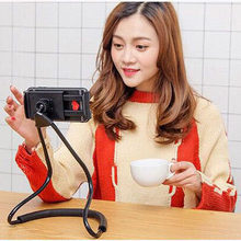 Universal Lazy Bracket 360 Degree Rotation Flexible Phone Selfie Tablet Holder Snake-like Neck Bed Mount Anti-skid Stander Hold(China)