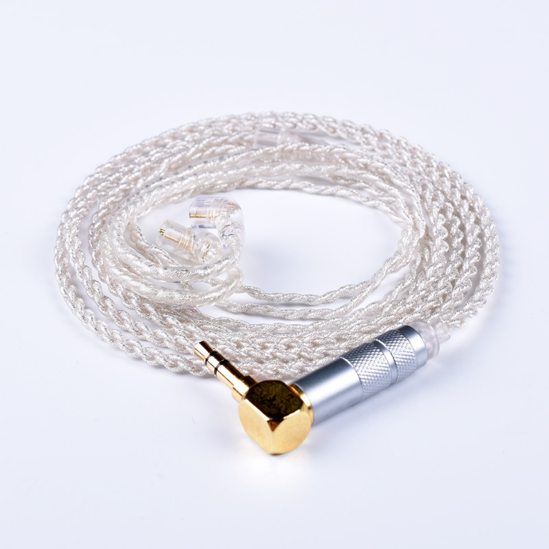 <font><b>0.75mm</b></font> <font><b>2</b></font> <font><b>pin</b></font> <font><b>Cable</b></font> for Logitech UE18 11pro 10pro 7pro 4pro Earphone DIY Replacement Silver Plated HIFI <font><b>Cables</b></font> for Android IOS image