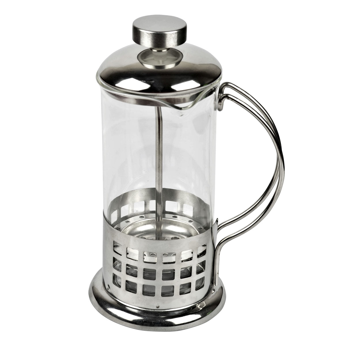Stainless steel tea maker glass coffee pot french press coffee pot flower tea cup pressure pot ...
