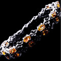 Natural citrine chain bracelet 0.45ct*8pcs gems Origin real citrine 925 sterling silver For men or women Fine jewelry #16080104