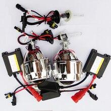 Bi-xenon HID Lente Del Proyector de 2.5 pulgadas con 12 V AC 35 W kit de Xenón Coche que labra Aparcamiento DIY Lámpara Auto para H4 H7 H1 Coche faro