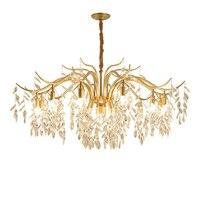 Nordic Industry Retro Pendant Crystal Iron ball Shape Lamp E14 Vintage Loft American Country Art Lamp Hanging Light Living Room
