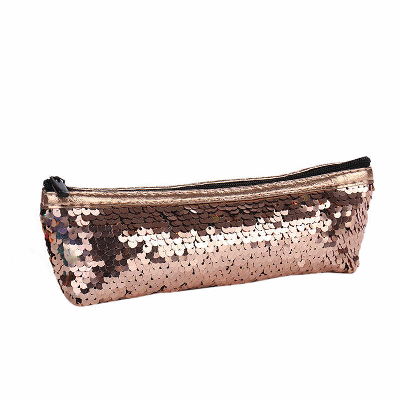 ... 2019 Fashion Girls Sequins Cosmetic Bags Double Colors Handbag Make up  Bag Women Girl s Pencil Bags ... 7b4fb04342f6