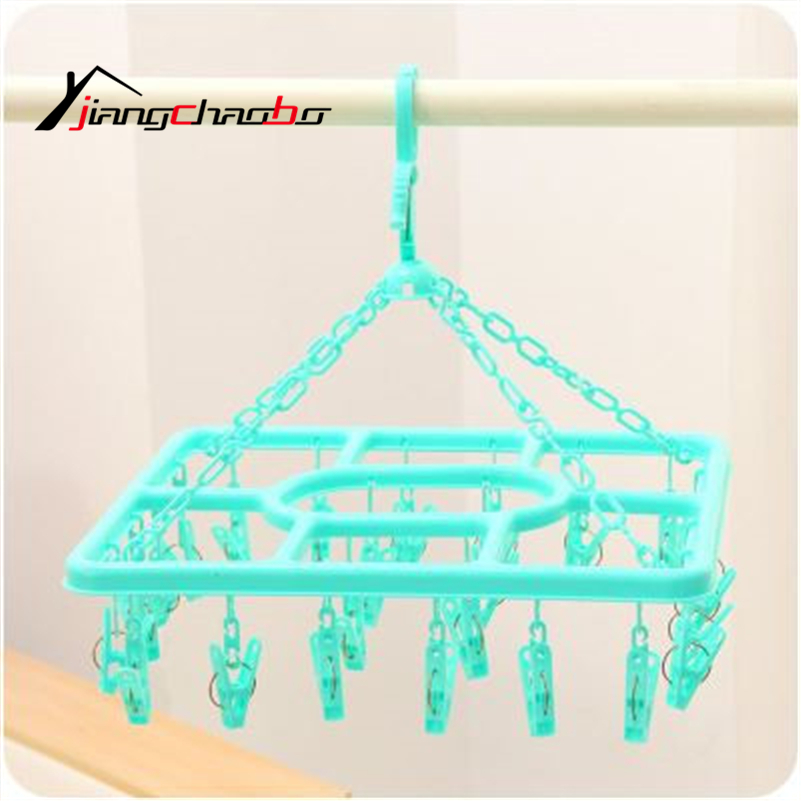 Free Shipping Thickening Overstretches Plastic Racks Hangers Clothes Pin Underwear Socks Drying Rack