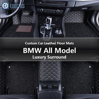 Custom Car Leather Floor Mats for BMW All Models f10 f01 f25 f30 f45 x1 x3 f25 x5 f15 e30 e34 e60 e65 Waterproof Wire Floor Mat