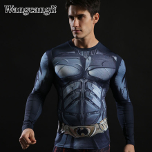 wangcangli Ant-Man Superman Iron Tops print man 3d t shirt Compression Fitness man's T-shirts Streetwear Camiseta Summer
