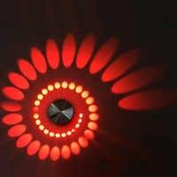 Dimmable/Non A Spirale 3 W LED Wall Sconce Lampada Cilindro Luce di Soffitto Apparecchio Moderna Della Decorazione Del Corridoio KTV Dell'hotel Argento Shell