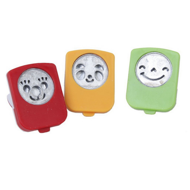 3pcs Smiley Face Expression Pattern Nori Punch Cutters Mold DIY