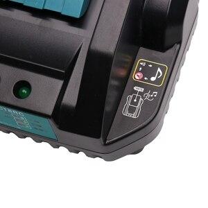 Image 5 - Dc18Rc 14,4 V 18V Li Ion Batterie Ladegerät 4A Ladestrom Für Makita Bl1830 Bl1430 Dc18Rc Dc18Ra Werkzeug Akku eu Stecker
