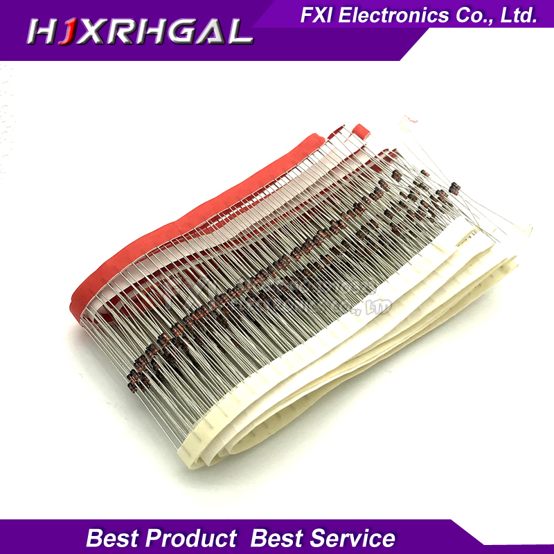 100pcs 1W Zener diode DO-35 1N4735A 6V2 1N4734A hjxrhgal 5V6 1N4733A 5V1 1N4732A 4V7 1N4731A 4V3 1N4730A 3V9 1N4729A 3V6