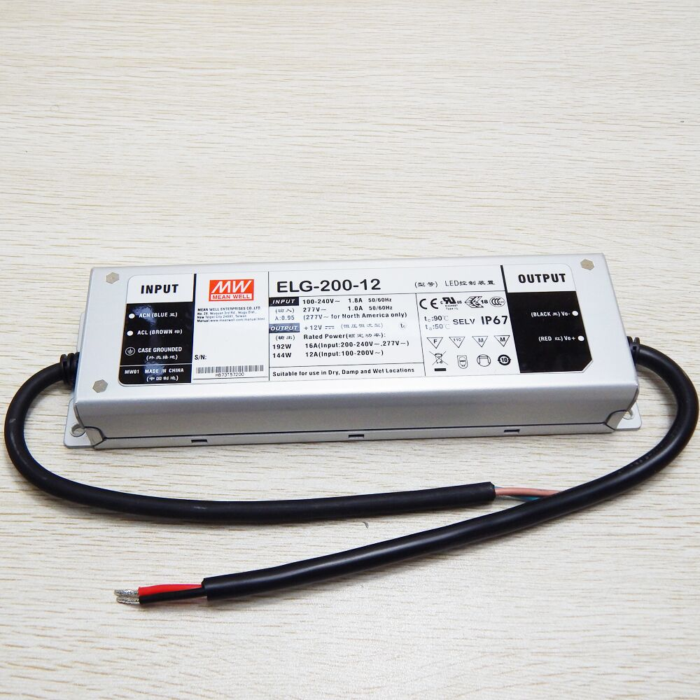 UL IP67 75 W 100 W 150 W 200 W 240 W driver LED mean well adaptateur AC100-350V DC 12 V 24 V étanche transformateur d'alimentation