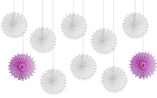 10pcs 12cm Snowflake Tissue Paper Fan Craft Party Event Decoration Hanging Flower Fans Favor Outdoor Wedding