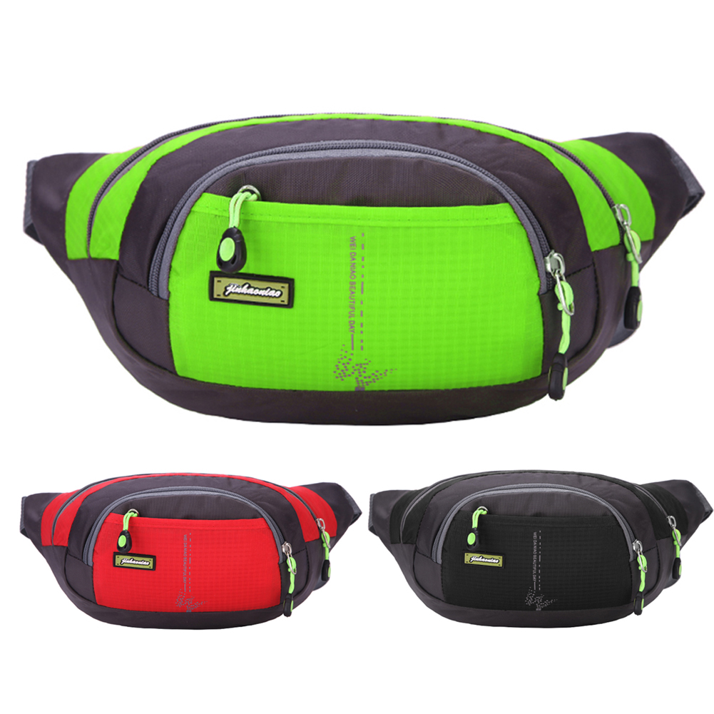 Professional Running Bag Waterproof Sports Chest Shoulder Bags Belt Bum Pouch Unisex Waistbag Hiking Zip Bag Fanny Pack 3 Color