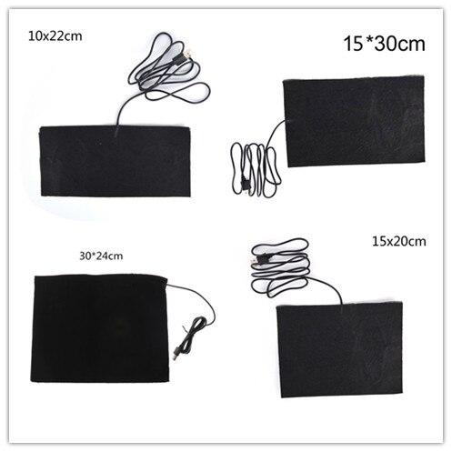 1 Pc Usb Warme Paste Pads Schnell-heizung Carbon Faser Heizung Pad Sicher Tragbare Heizung Wärmer Pad Für Tuch Weste Jacke Schuhe Socken