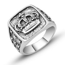 Новая мода Король Королева Корона печатка кольца для женщин