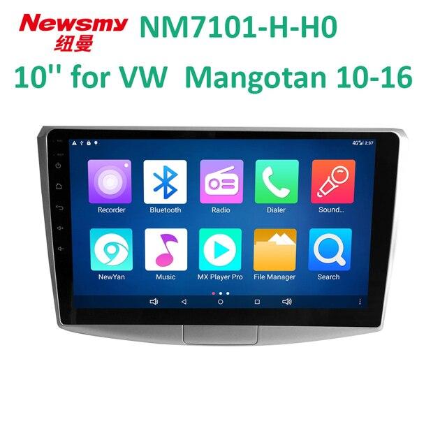 4 г HD DVR Bluetooth, Wi-Fi 10.1 дюймов Android 7 для 2012-2016 VW Magotan автомобиль головного устройства Newsmy 24 часов в прямом эфире