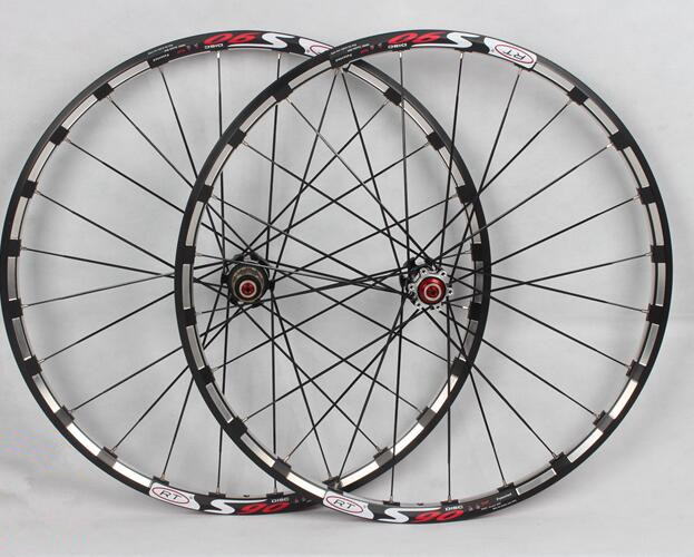 Rt s90 MTB mountain bike bicycle wheels carbon hub sealed bearings disc wheelset Rim Rims mountain bike four perlin disc hubs 32 holes high quality lightweight flexible rotation bicycle hubs bzh002