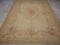 Free Shipping 9'X12' Aubusson rug and carpets handmade 100% New Zealand wool rugs and carpets BEIGE wholesale & Retail rug store