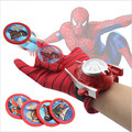 4 Types PVC 24cm Batman Glove Action Figure Spiderman Launcher Toy Kids Suitable Spider Man Captain America Cosplay Costume Come