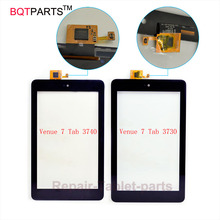 Bqtparts оптовая для dell venue 7 t01c 3740 3730 сенсорный экран планшета переднее стекло объектива замена таблетка сенсорным