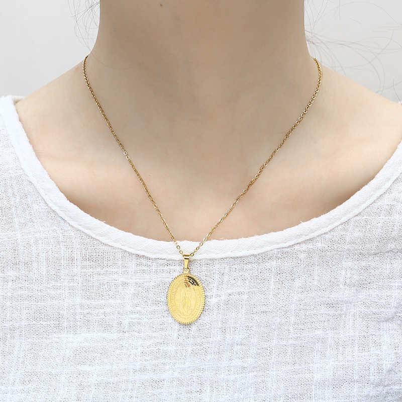 XUANHUA, винтажный Амулет из нержавеющей стали без ожерелья, подарки на 8 марта, подарок на день Святого Валентина, аксессуары, модные ювелирные изделия, цепочка чокер