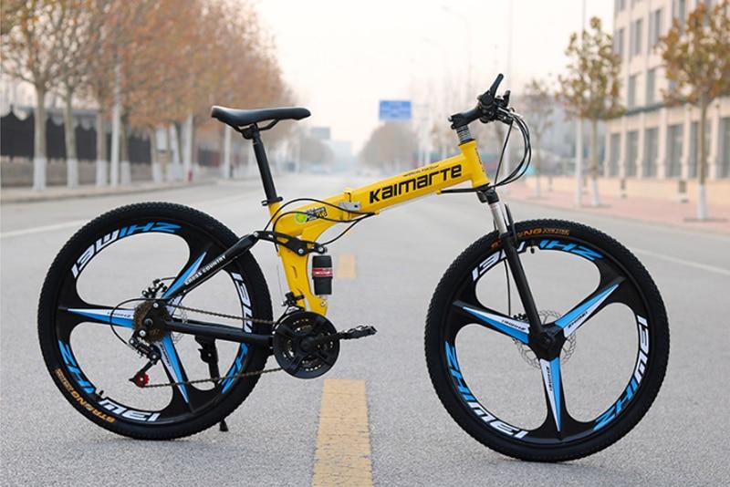 HTB15q3VShnaK1RjSZFtq6zC2VXaj 26inch folding mountain bike 6 knife wheel and 3 knife wheel mountain bike 21 speed double disc brakes bicycle