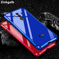 Luxury Plating Metal Case For HUAWEI Mate 10 Pro Aluminum Bumper Acrylic PC Back Cover For