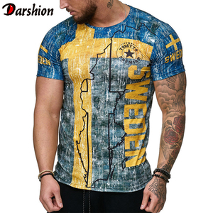 Summer Spanish flag jerseys men shirts Swedish letter 3D printing men's t-shirt Breathable streetwear casual clothing XXS-4XL(China)