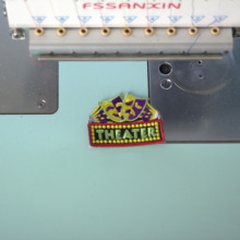 Name patch Uniform or work shirt personalized Identification tape Embroidered Sew On, Hook Fastener Iron on